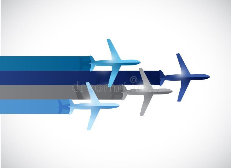 De illustratieontwerp van het reisvliegtuig vector illustratie