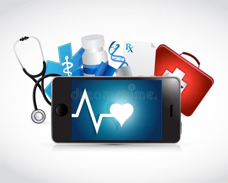 de illustratieontwerp van het tablet medisch concept vector illustratie