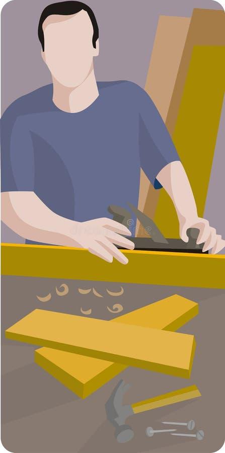 De illustratiereeks van de arbeider royalty-vrije illustratie