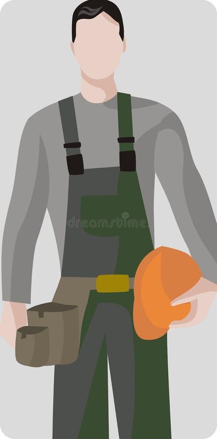 De illustratiereeks van de arbeider vector illustratie
