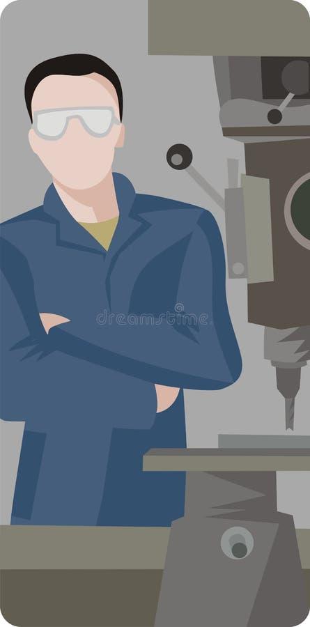 De illustratiereeks van de arbeider stock illustratie