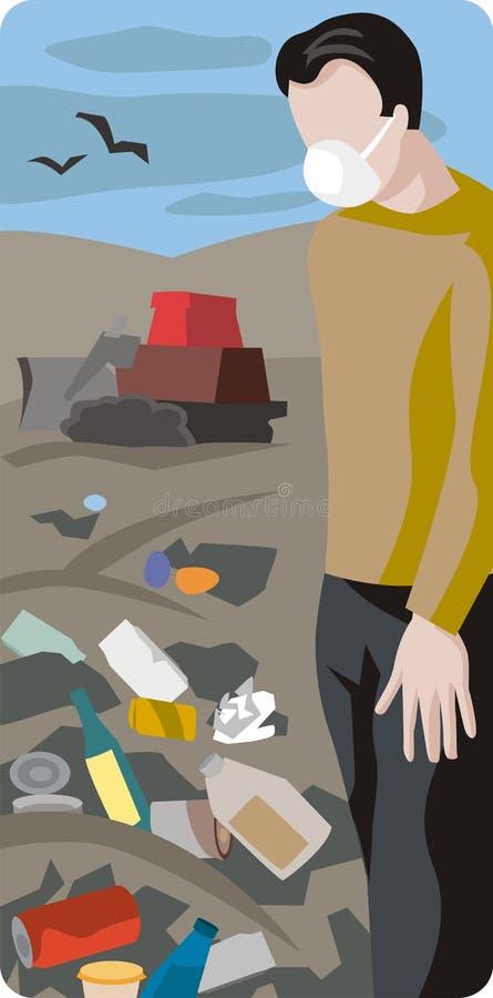 De illustratiereeks van de ecologie vector illustratie