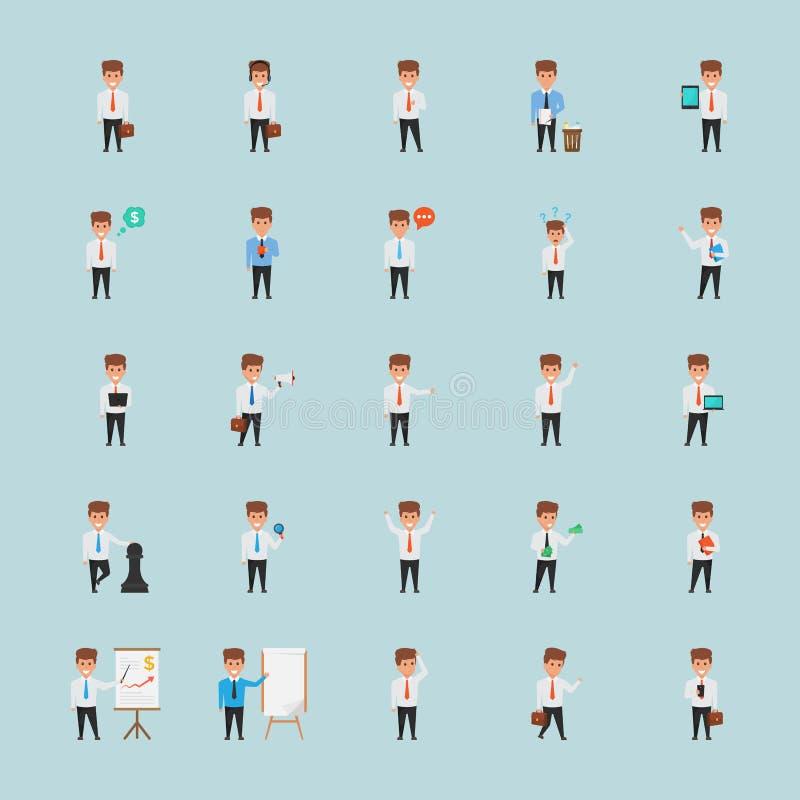De Illustraties creatief van het Gebouwd Bureaukarakter vector illustratie