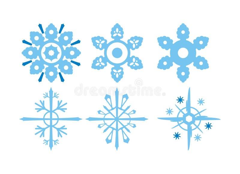 De illustraties van de sneeuwvlok stock foto's