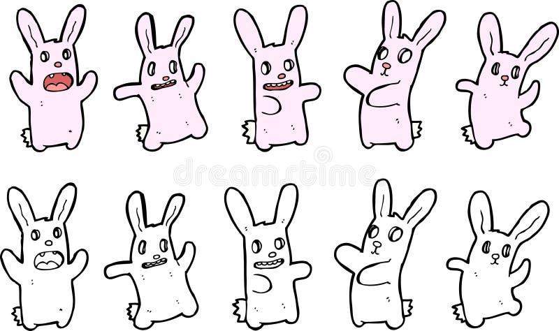 De illustraties van het konijntje stock illustratie
