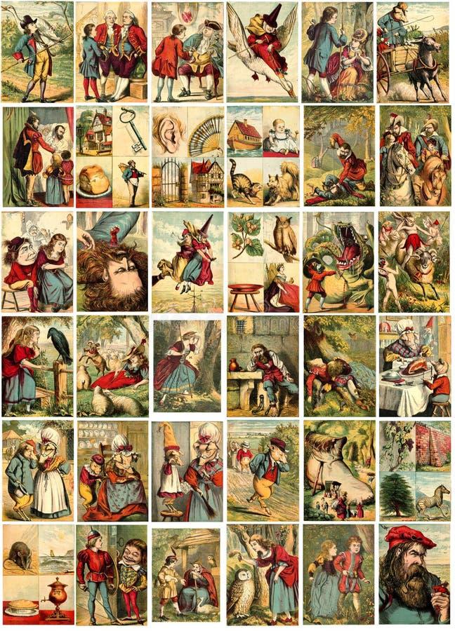 De Illustraties van het sprookje stock illustratie