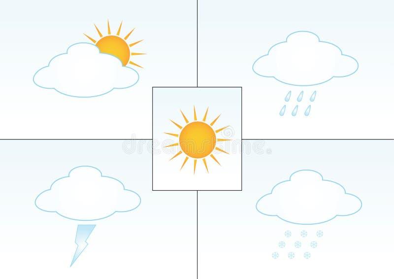 De illustraties van het weer vector illustratie