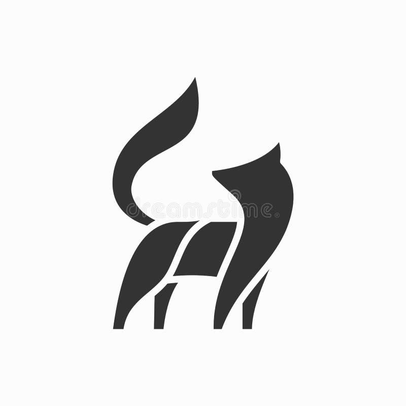 De illustratievector van lijnart peacock color black designs royalty-vrije illustratie