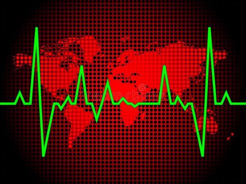 De impuls van het hart van wereld