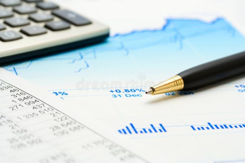 De index van de voorraad controle. stock foto's