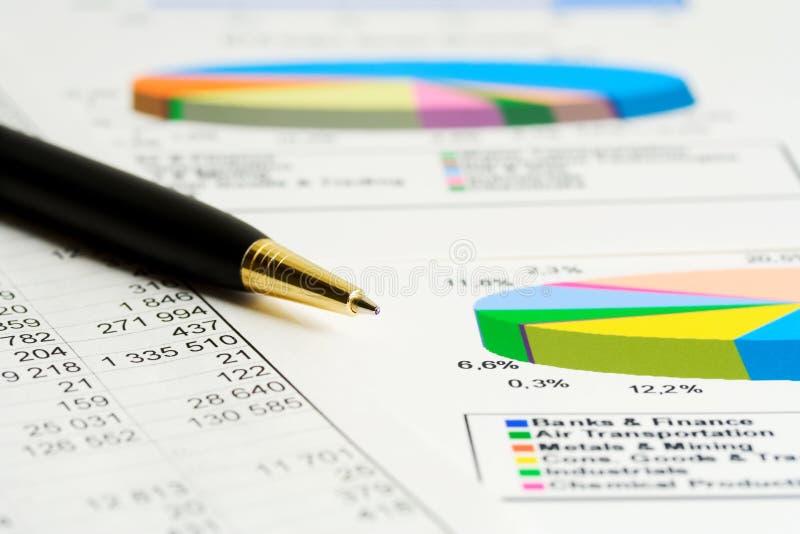 De index van de voorraad het analyseren. stock afbeelding