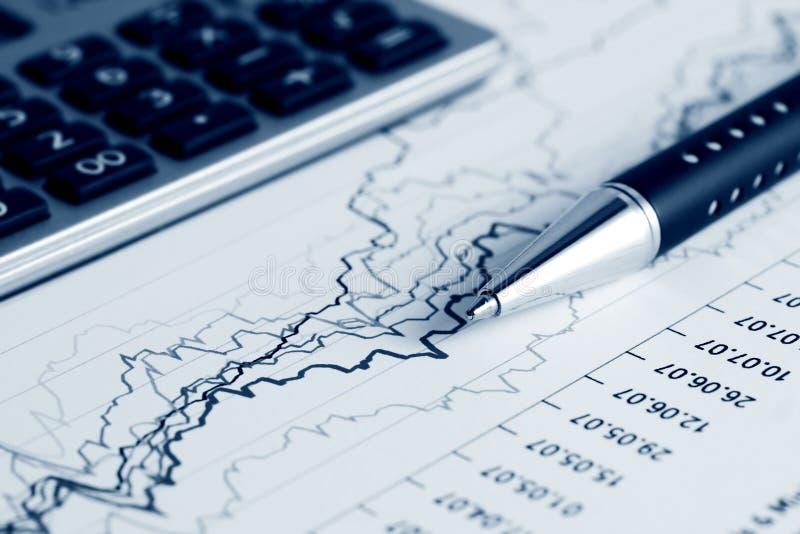 De indexrapporten van de voorraad. stock foto's