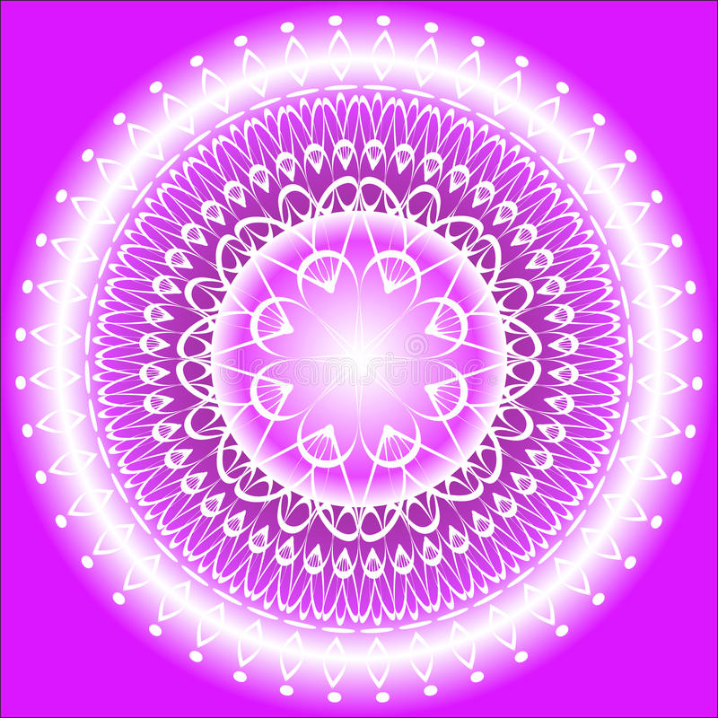 De Indigo van Mandala stock illustratie