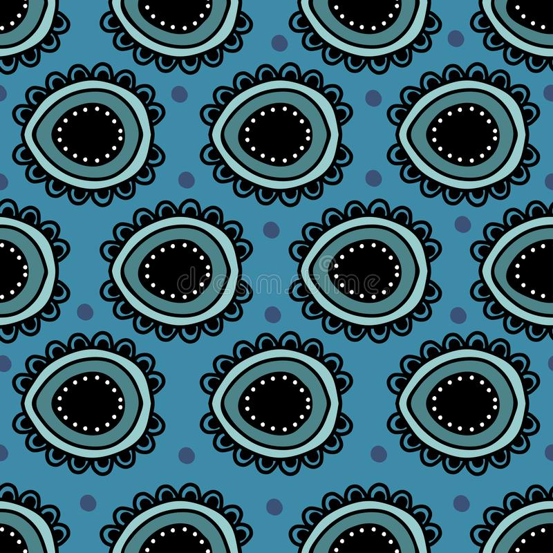 De Indische abstracte etnische stijl van de patrooncirkel vector illustratie