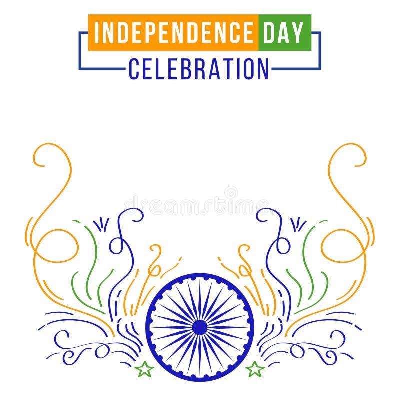 De Indische banner van de Onafhankelijkheidsdag vector illustratie