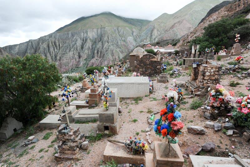 De Indische begraafplaats van Iruya stock afbeelding