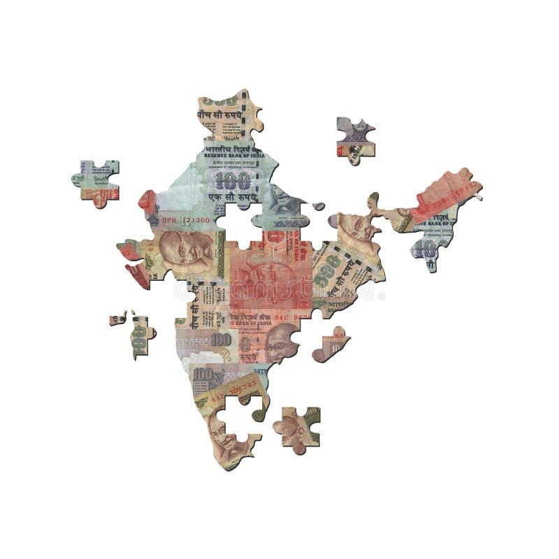 De Indische figuurzaag van de Kaart van de Roepie vector illustratie