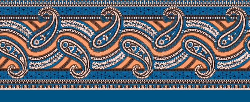 De Indische klassieke grens van Paisley vector illustratie