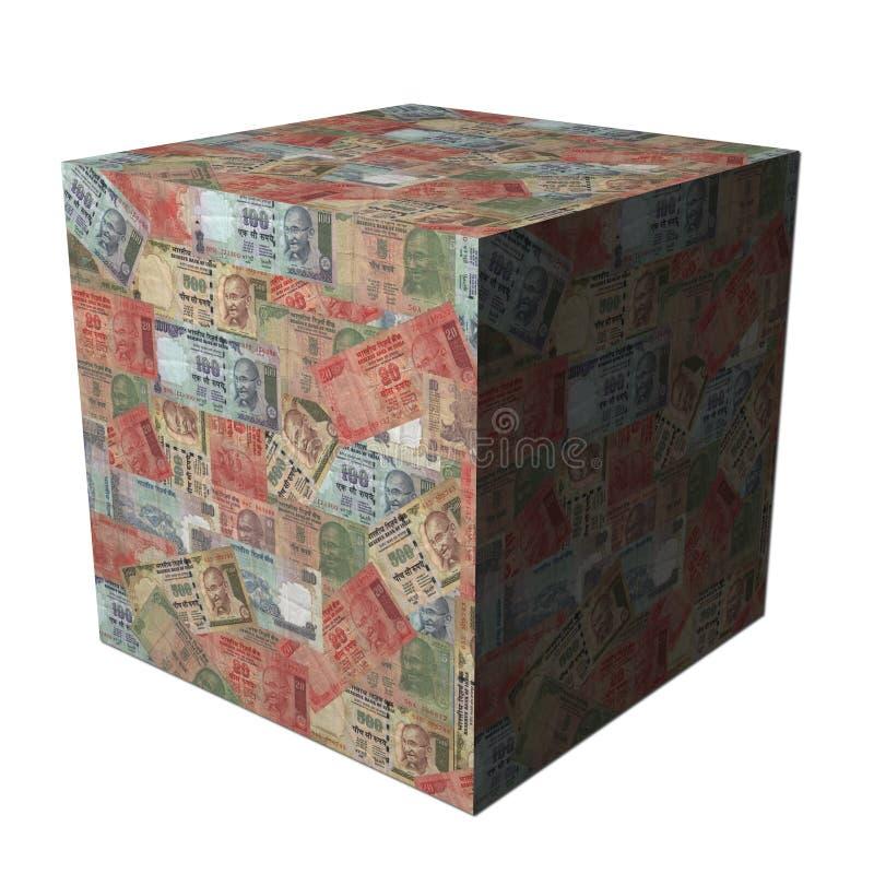 De Indische kubus van Roepies stock illustratie