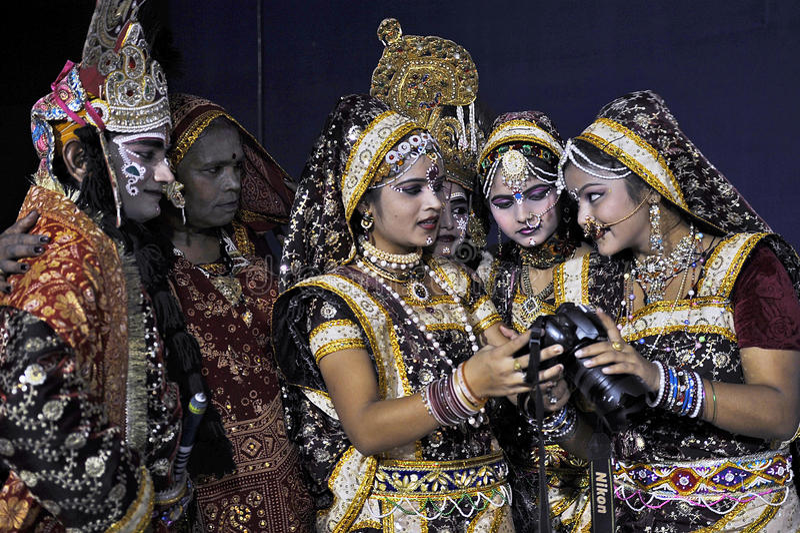 De Indische Markt van de Kunst stock foto
