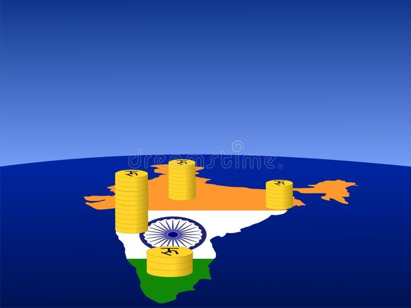 De Indische muntstukken van de Roepie vector illustratie