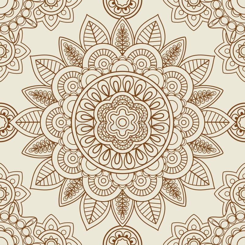 De Indische naadloze achtergrond van mehendiboho vector illustratie