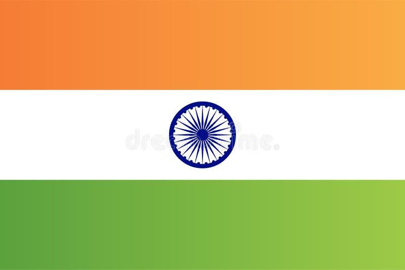 De Indische nationale vector van de de vlag originele grootte van het land royalty-vrije illustratie