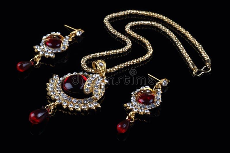 De Indische Reeks van de Juwelen van de Stijl stock afbeeldingen