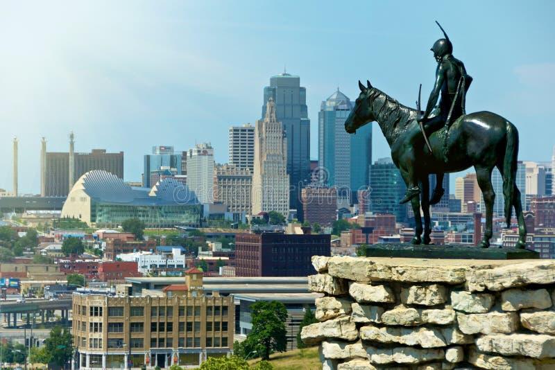 De Indische Stad van Kansas van het Standbeeld van de Verkenner royalty-vrije stock foto
