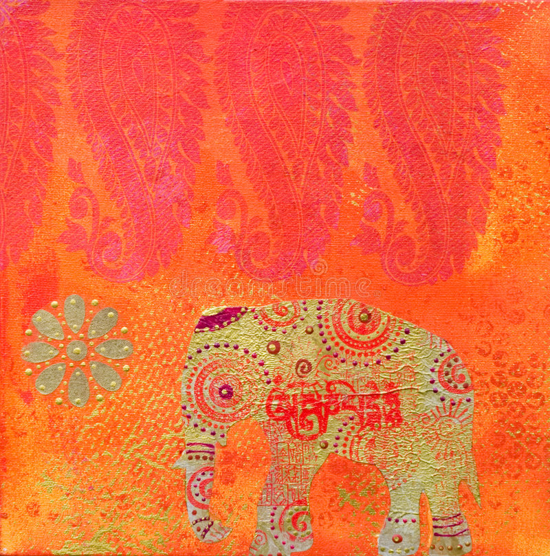 De Indische stijl van het kunstwerk