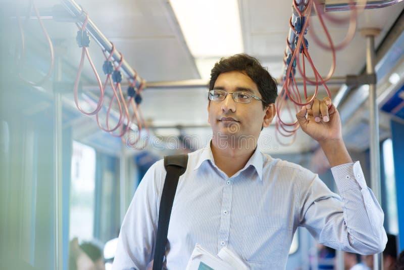De Indische trein van de bedrijfsmensenbinnenkant stock foto