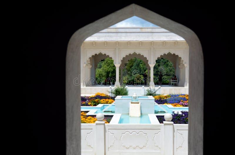 De Indische Tuin van Klusjesbagh in Hamilton Gardens - Nieuw Zeeland stock foto