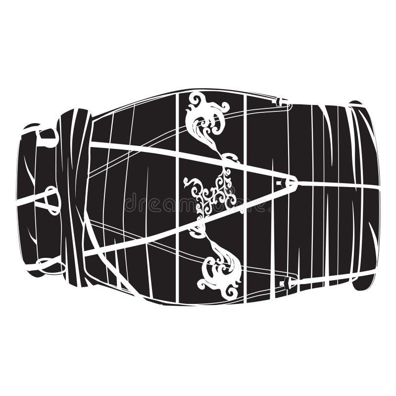 De Indische vector zwart-witte illustratie van de handtrommel dholak stock illustratie