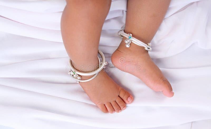 De Indische Voeten van de Baby royalty-vrije stock fotografie