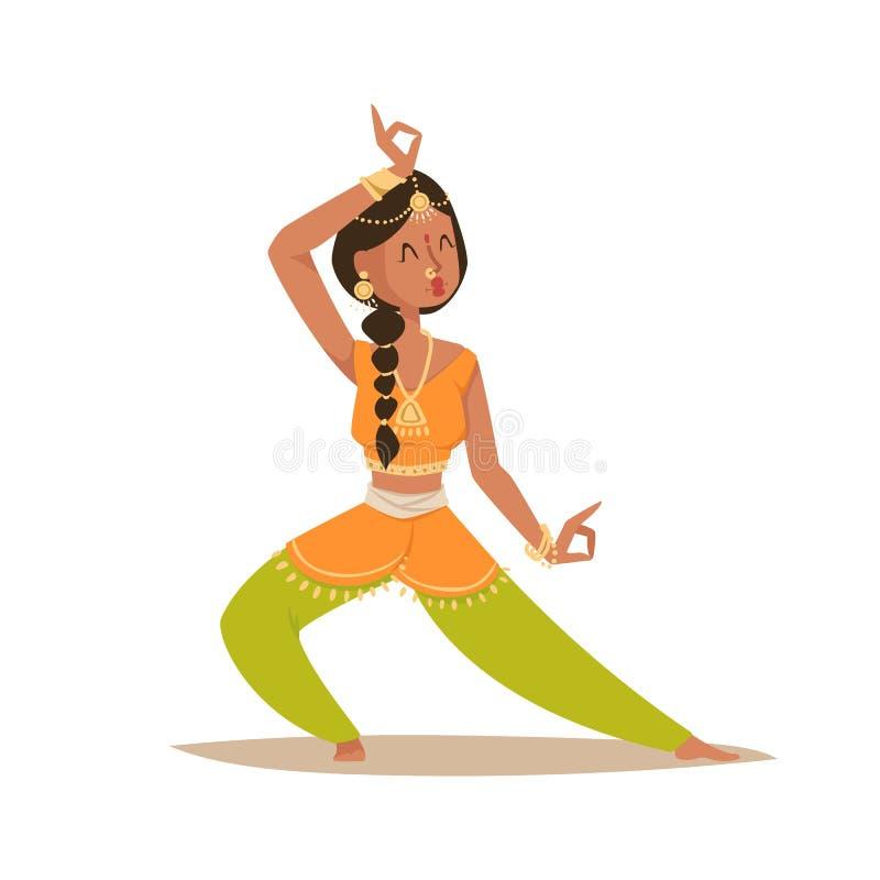De Indische vrouw het dansen vector geïsoleerde van de pictogrammenmensen van het danserssilhouet dans van India toont partijfilm royalty-vrije illustratie