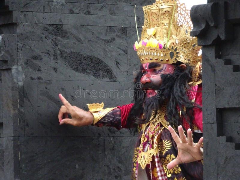 De Indonesische mens is koning stock afbeelding