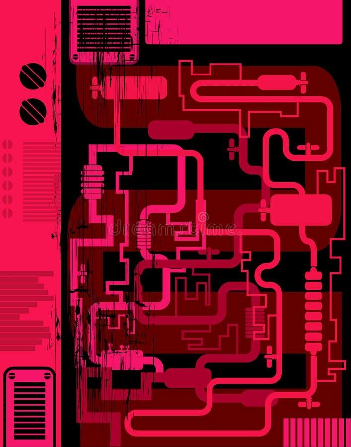 De industriële achtergrond van Grunge vector illustratie
