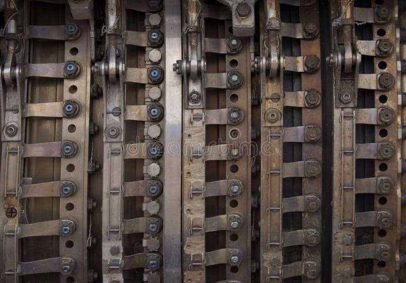De industriële achtergrond van het metaal stock foto