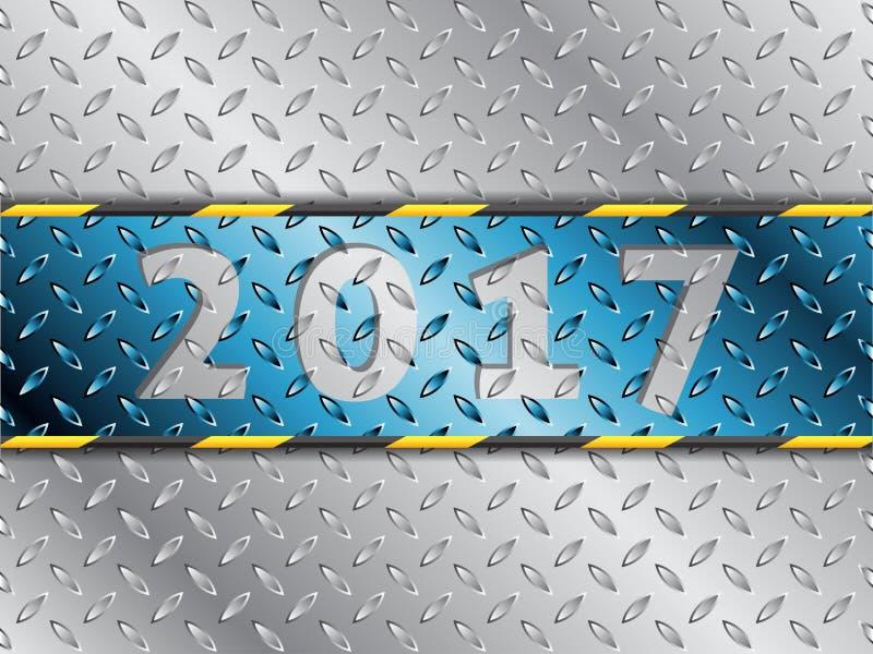 De industriële achtergrond van 2017 met blauwe streep vector illustratie