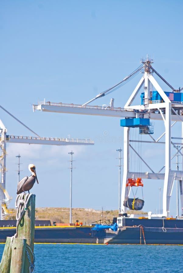 De industriële Baan van de het Werkhaven royalty-vrije stock afbeelding