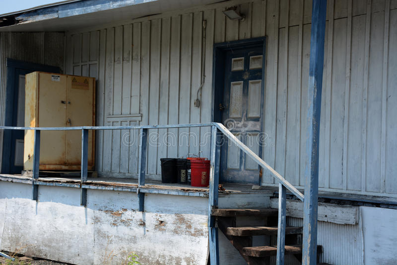 De industriële bouw bureau stock foto's