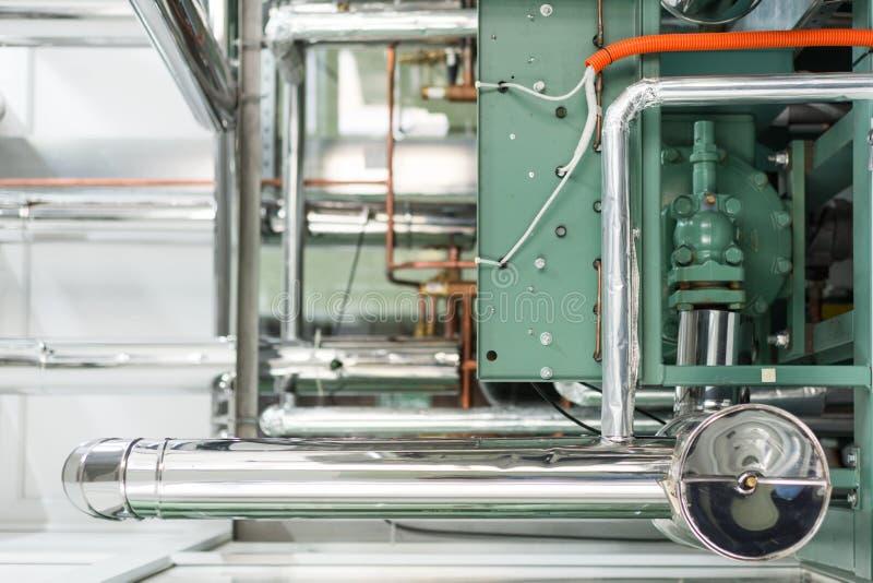 De industriële eenheid van de koelingscompressor stock afbeelding