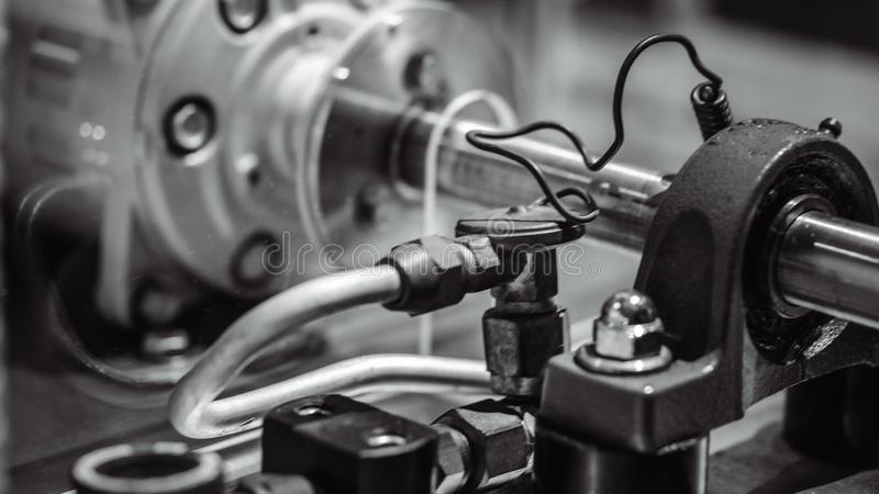 De industriële Robot Machine van de Productielijn stock afbeeldingen