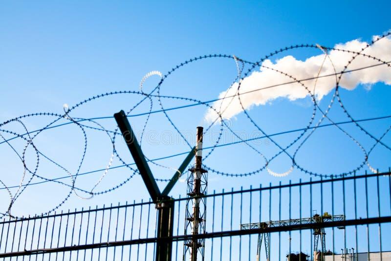 De industriële verontreiniging van de lucht royalty-vrije stock afbeelding
