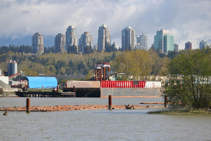 De industrie en Burnaby, Brits Colombia, Canada stock fotografie