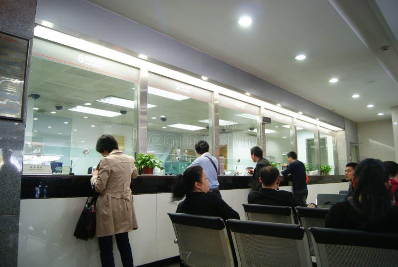 In de industrie van China en handelsbank voor zaken royalty-vrije stock afbeeldingen
