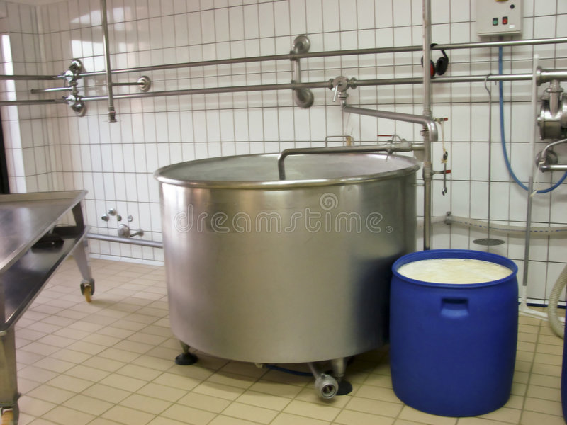 De industrie van de melk royalty-vrije stock fotografie