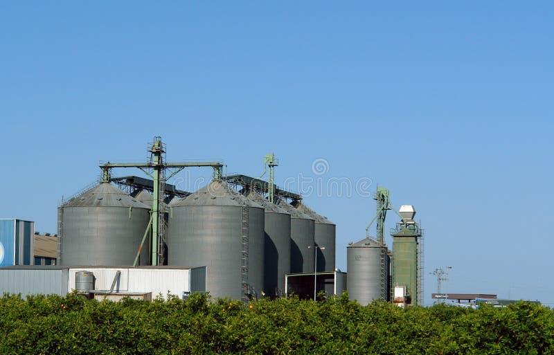 De industrie van de olie stock afbeelding
