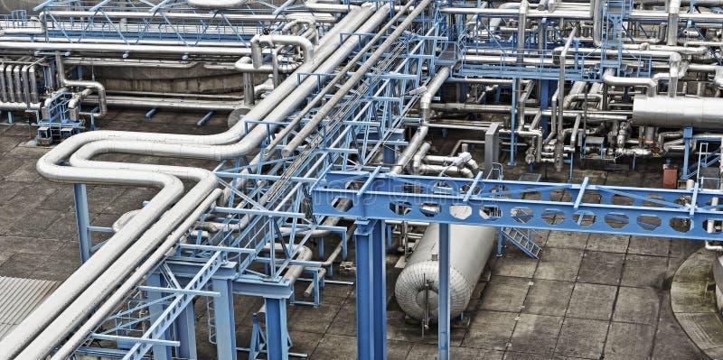 De industrie van de olie en van het gas stock afbeeldingen