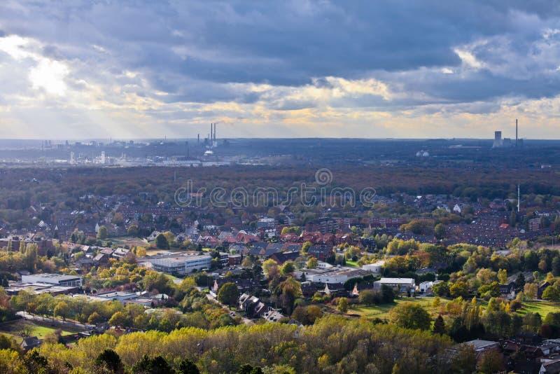 De industrie van Oberhausen van Ruhr Gebied Duitsland Europa stock afbeeldingen